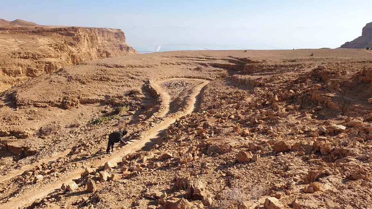 שביל ישראל לאופניים באזור ים המלח