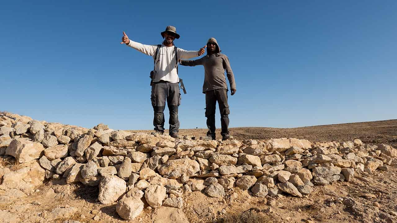 שביל ישראל לאופניים - טראסה ליד מצפה רמון