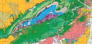 מפה גיאולוגית של מכתש רמון