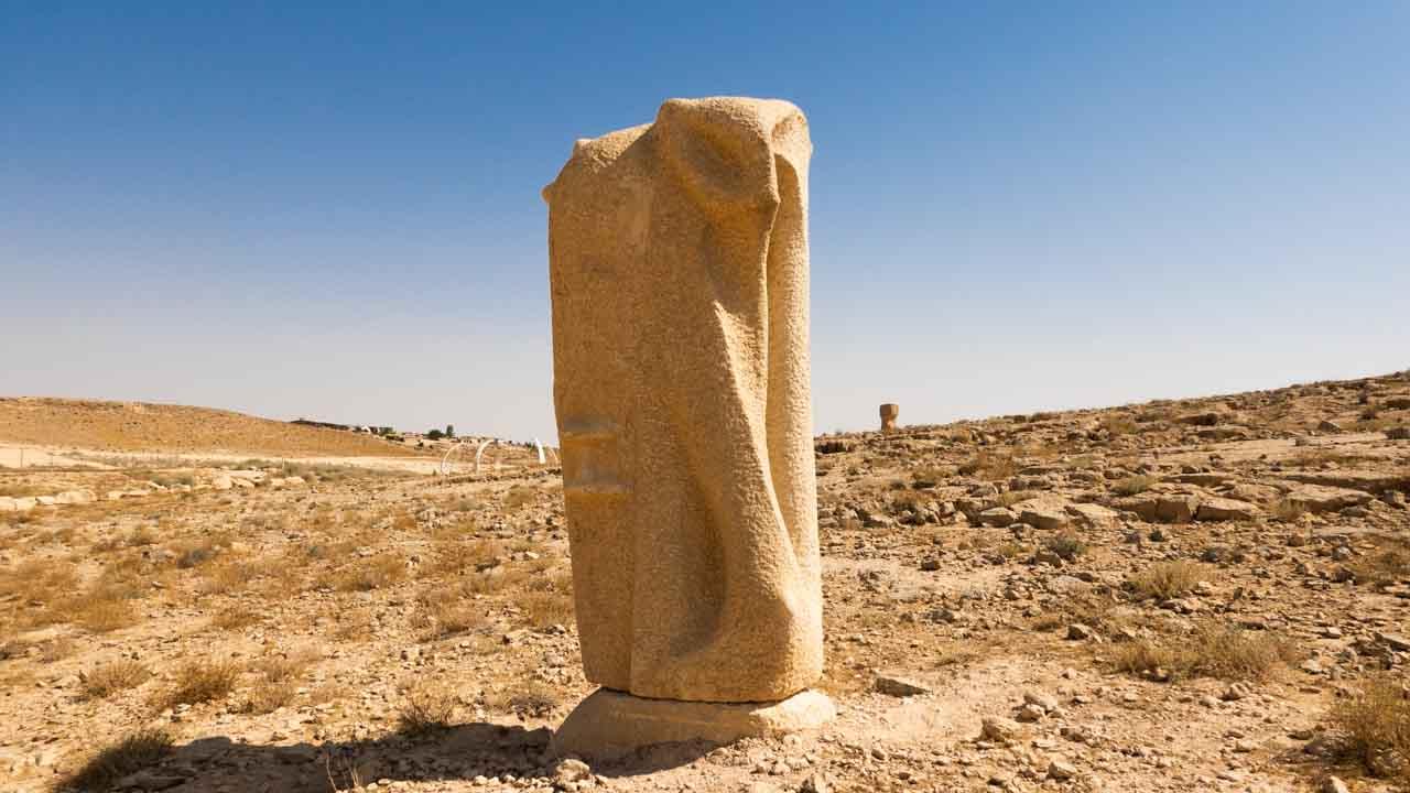 פסל בפארק הפיסול המדברי במצפה רמון